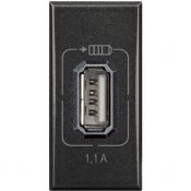 AXOLUTE - USB CHARGER 1,1A ANTRACITE - BTI HS4285C1
