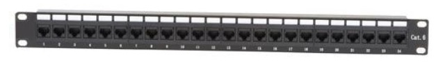 "PATCH PANEL UTP CAT6 24 PORTE 19"" - HOP PP24UTP19"