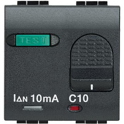 LIVING INT - MAGNETERMICO DIFFERENZIALE 1P+ N 6A 10MA - BTI L4305/6