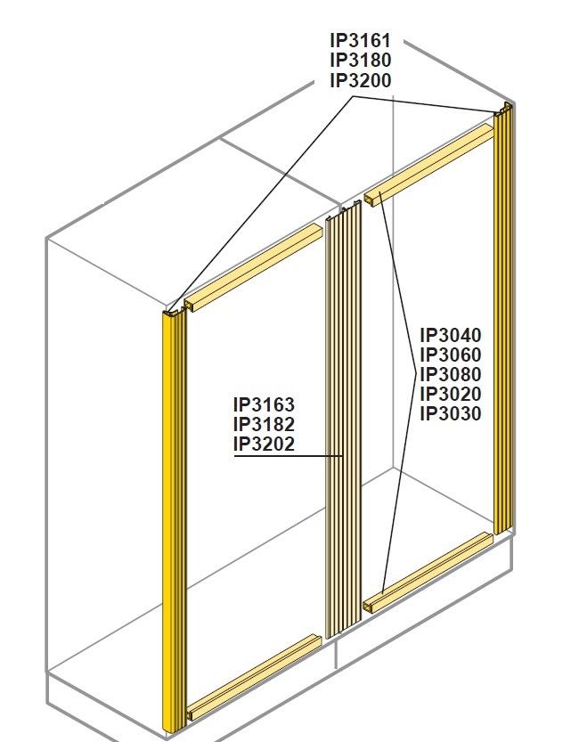 PROFILO FINITURA VERTICALE DOPPIO IP31 L=2000 - ABB IP3200