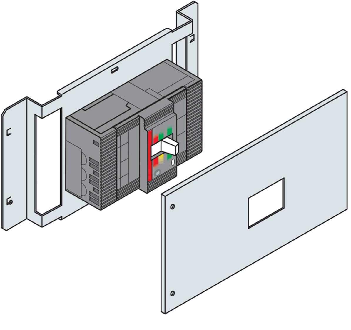 KIT PAV/PAR T1 KIT INSTALLAZIONE ORIZZONTALE CON DIFFERENZIALE 4P - ABB LK1004