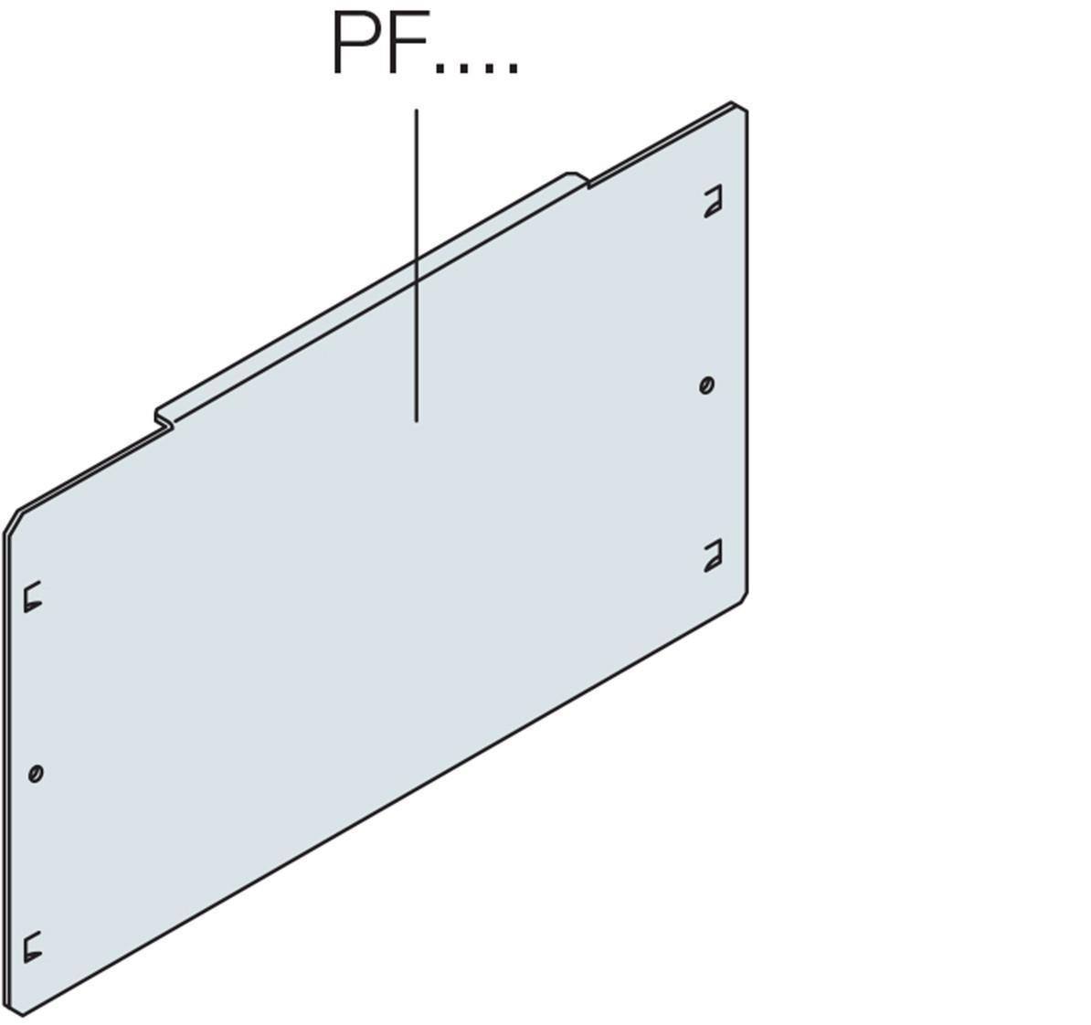 PIASTRA DI FONDO CIECA H=400MM - ABB PF1004