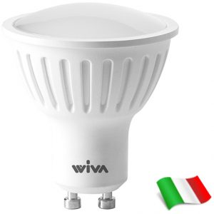 LAMPADA A LED GU10 6W 6000K 100D 500LMWH - WIVA GROUP SPA 12100267
