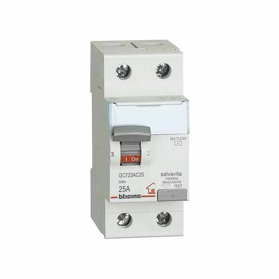 DIFFERENZIALE PURO TICINO AC 2P 25A - BTI GC723AC25