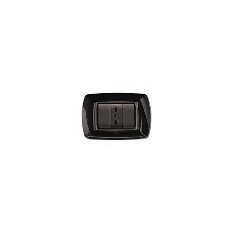 PLACCA 3 MODULI NERO ELETTROCANALI MYLIFE - ETN ECL2983N