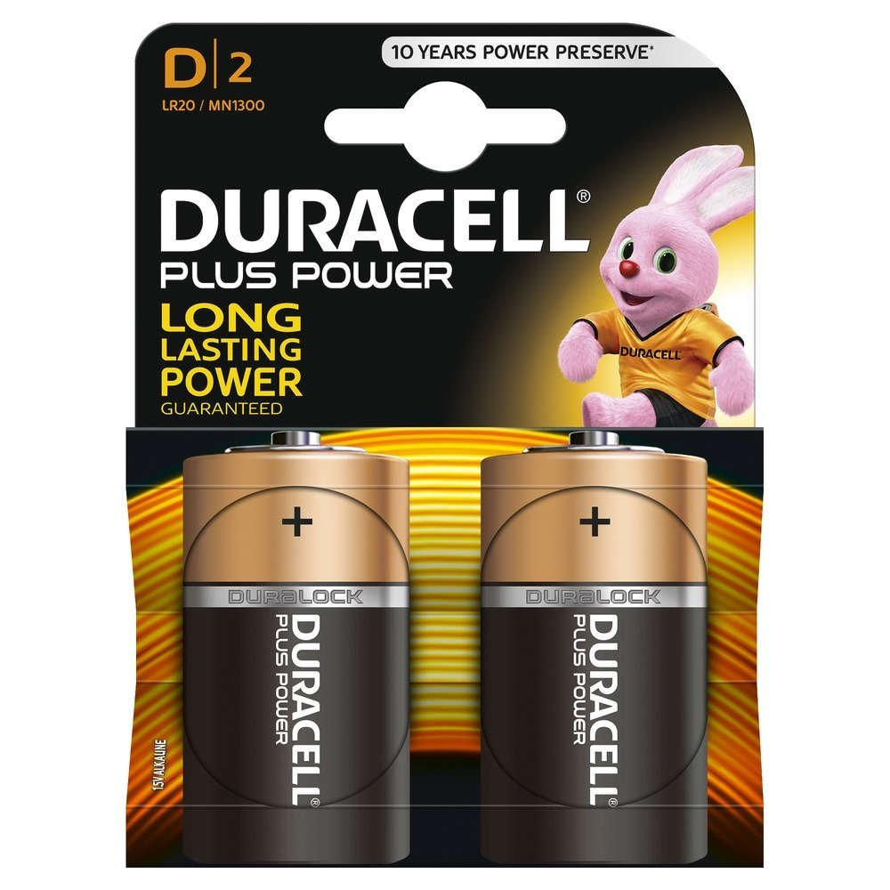 DURACELL PLUS POWER BATTERIE ALCALINE, TORCIA, D - DURACELL MN1300