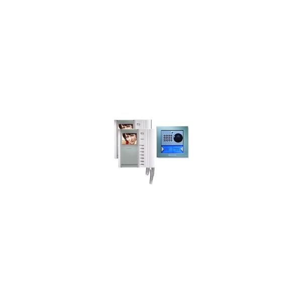 KIT VIDEOCITOFONO BIFAMILARE COLORI - COMELIT 8185