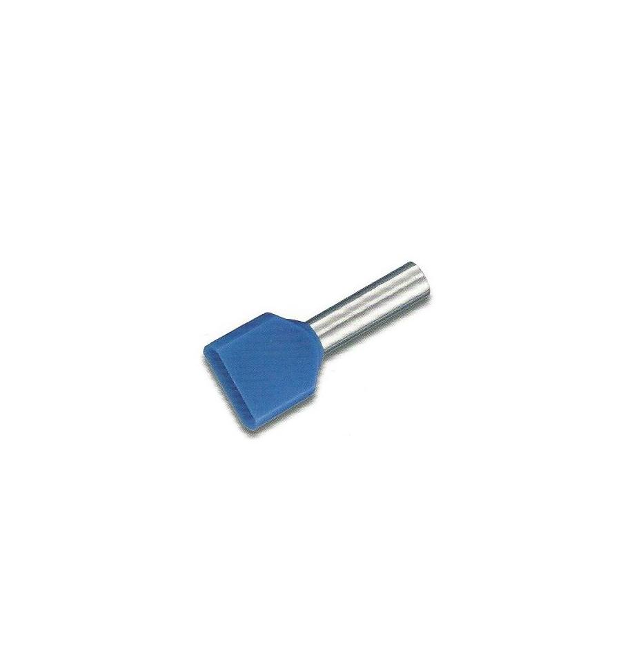 TUBETTO DOPPIO SEZ. 2X2,5 MMQ BLU L=10 - GIGRA LINE T20025L10