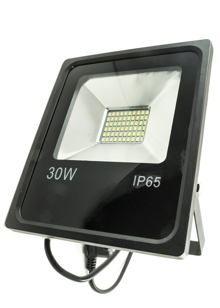 PROIETTORE LED BIANCO FREDDO 3000K 30W NERO IP65 - GIGRA LINE FLB30/830