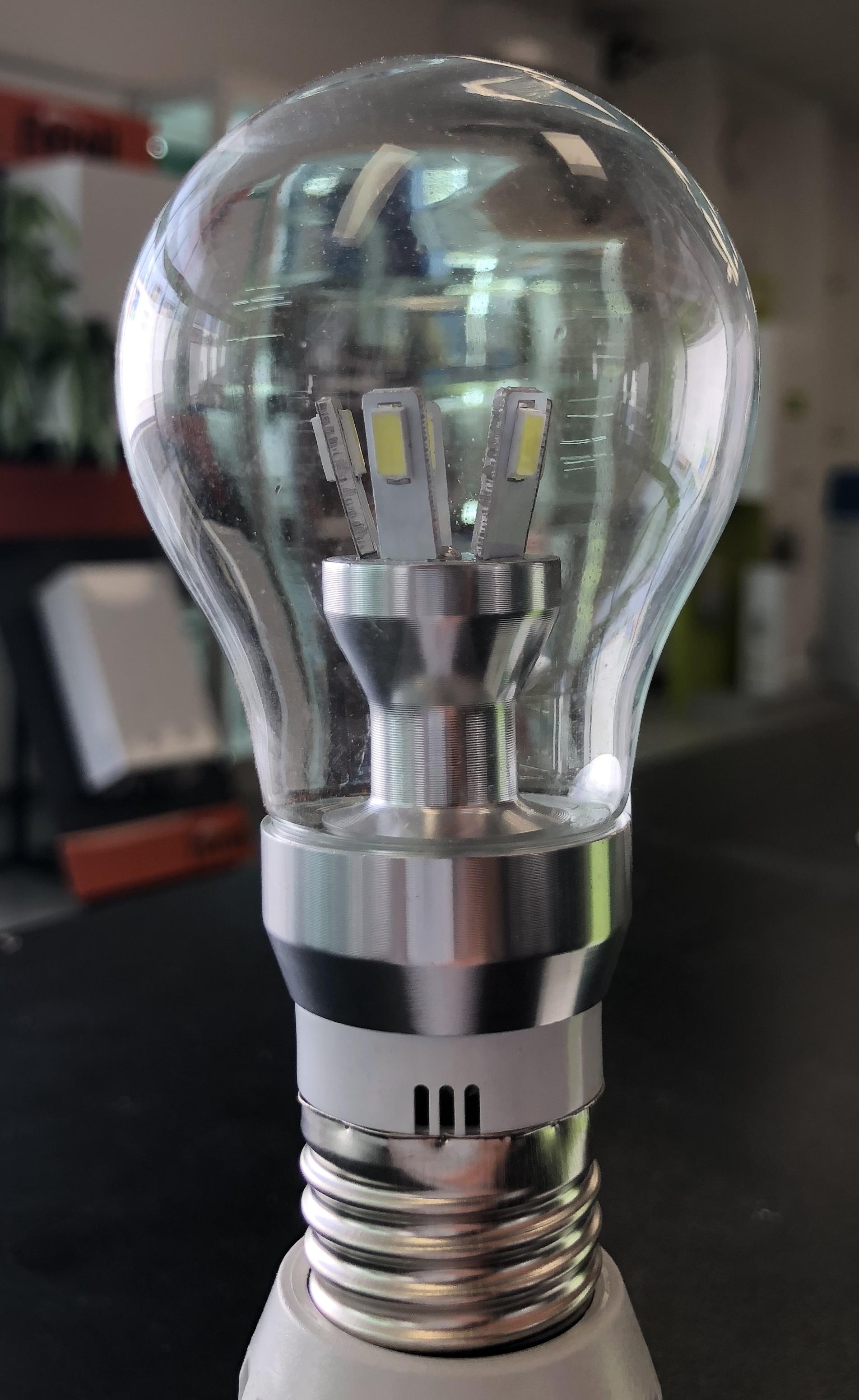 LAMPADA A LED GOCCIA CHIARA E27 8W BIANCO FREDDO - GIGRA LINE LEGCE278BF