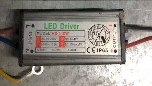 DRIVER PER PROIETTORE A LED SERIE FLEP 10W - GIGRA LINE R-FLD10