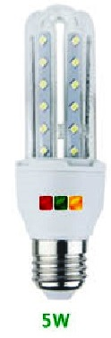 LAMPADA 3 TUBI LED E14 5W 3000°K - GIGRA LINE TL05M/830