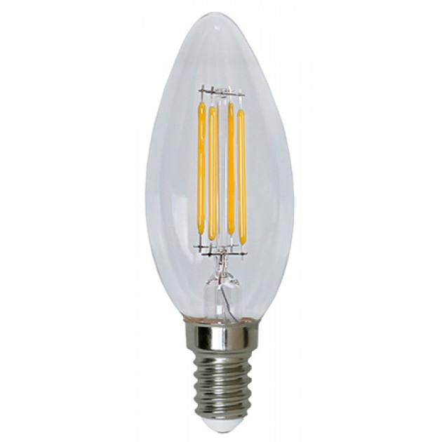 LAMPADA A LED CANDELA FILAMENTO E14 3,6W BIANCO CALDO - GIGRA LINE FLCAE143BC