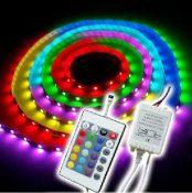 KIT STRISCIA LED 5M RBG 5050 CON TEL.CONTROLLER E ALIMENTAT - GIGRA LINE SL015050RGB60D