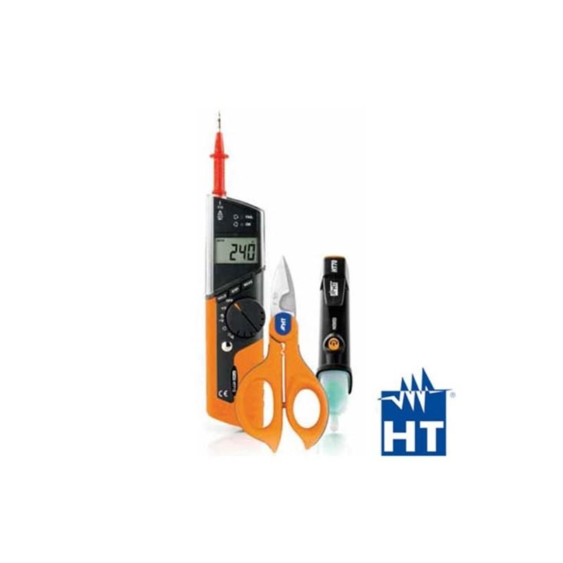 KIT HT712 MULTIMETRO HT712 + FORBICE F50 + CERCAFASE HT70 - HTI HA712000