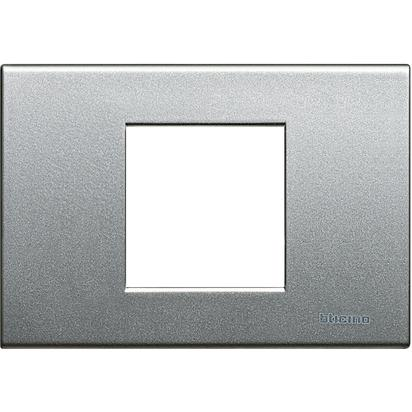 PLACCA 2 POSTI MOD 503 COLORE TECH LIGHT TECH - BTICINO LEGRAND NT4819TH
