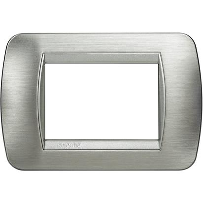 Elettrocanali/ /Mascherina mylife 3/moduli acciaio satinato