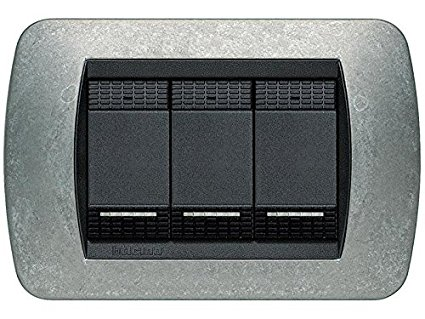 PLACCA 3 POSTI NATIVE - BTICINO LEGRAND L4803NA