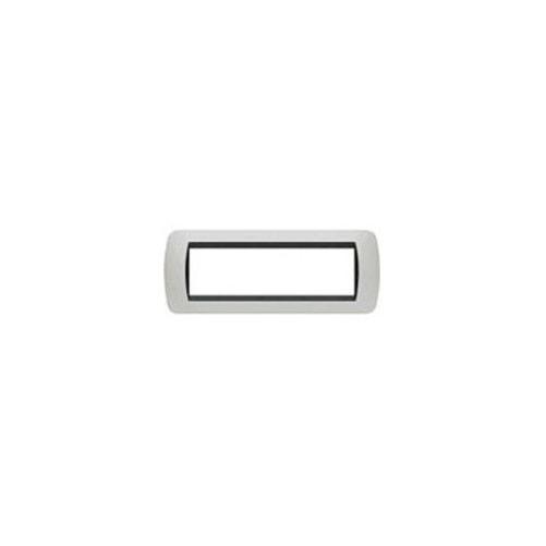 LIVING INT.- PLACCA 7P PLASTICA BIANCO SOLID - BTICINO LEGRAND L4807BA