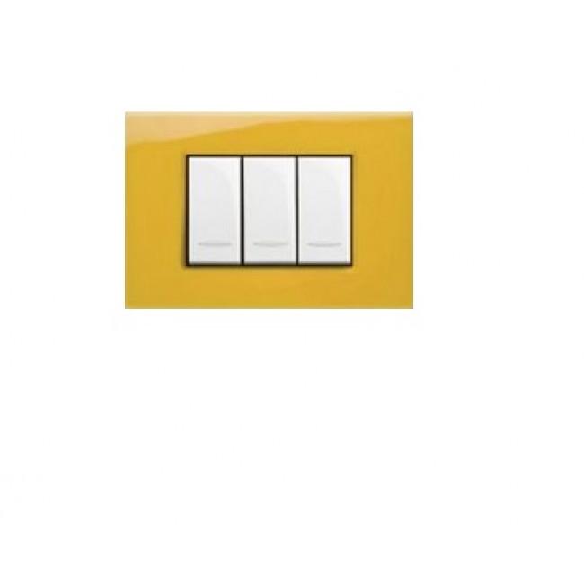 PLACCA VELA QUADRA - GIALLO SOLE RIFLESSI - 3 MODULI - LEG 685661