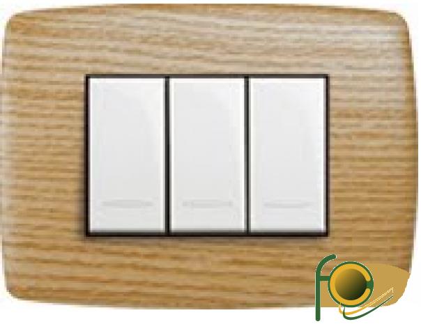 PLACCA VELA TONDA - ROVERE LEGNI TECNICI 3 MODULI - LEG 685626