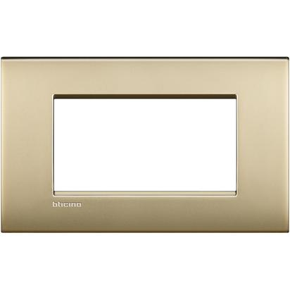 PLACCA AIR 4 MODULI - ORO SATINATO - BTICINO LEGRAND LNC4804OF