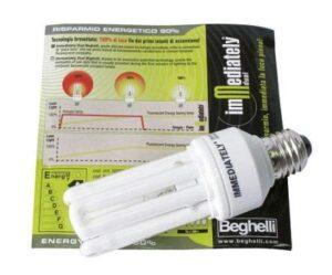 Beghelli Lampada Immediately Lampadina Attacco E27 - BEGHELLI 50006