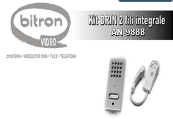 KIT DRIN 2 FILI INTEGRALE MONO BITRON - COD. AN9888
