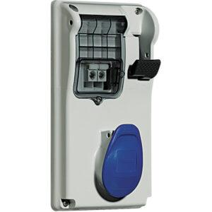 PRESA INTERB COMP QUAD IP44 16A 2P+T 230V CON BASE - BTICINO LEGRAND CBC216/42P