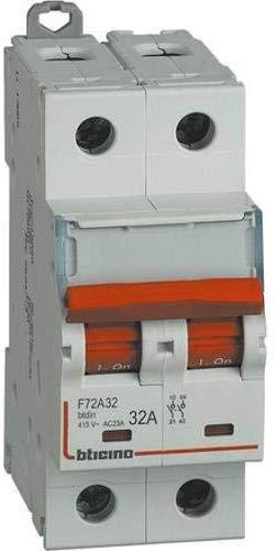 BTDIN - SEZIONATORE COMANDABILE 2P 32A F72A32 - BTICINO LEGRAND F72A32