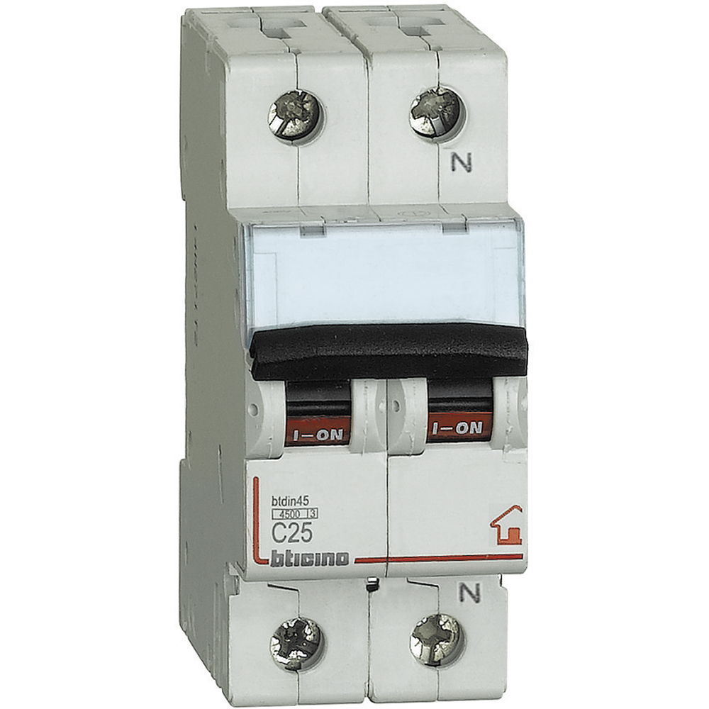 BTicino FC810NC25 Interruttore Magnetotermico, C25, 1P+N, 2 - BTICINO LEGRAND FC810NC25