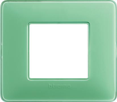 MATIX - PLACCA 2P COLORS TE VERDE - BTICINO LEGRAND AM4802CVC