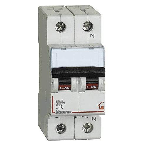 Biticino FC810NC10 interruttore magnetotermico C10 1P+N 2M 4 - BTICINO LEGRAND FC810NC10