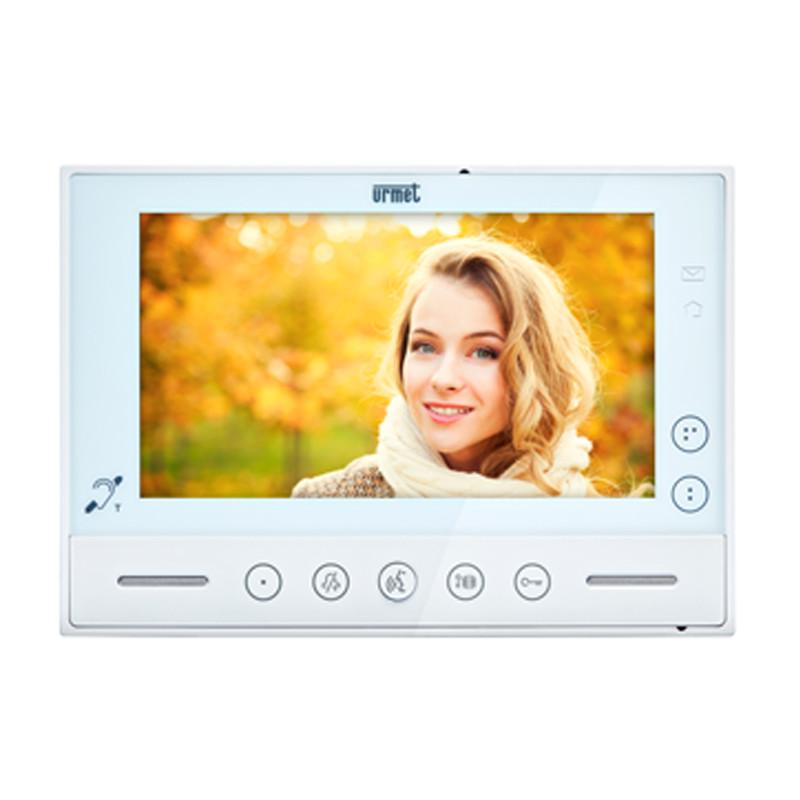 "Videocitofono Urmet vModo 7"" Vivavoce soft touch Sistema 2 V - URMET 1719/1"
