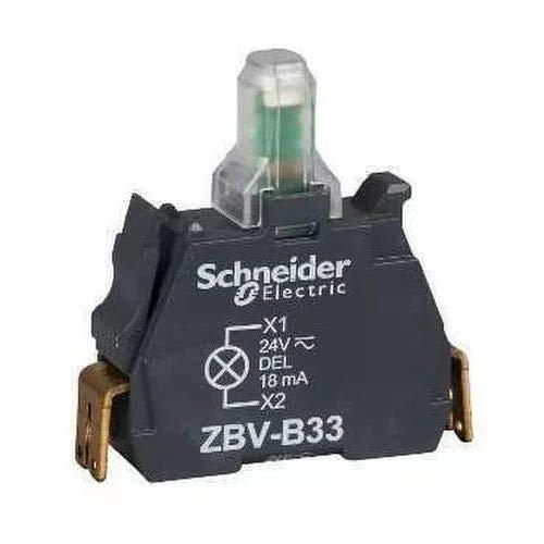 Schneider ZBVB14 Elemento a LED Luminoso, Bianco - SCHNEIDER ELECTRIC ZBVB14