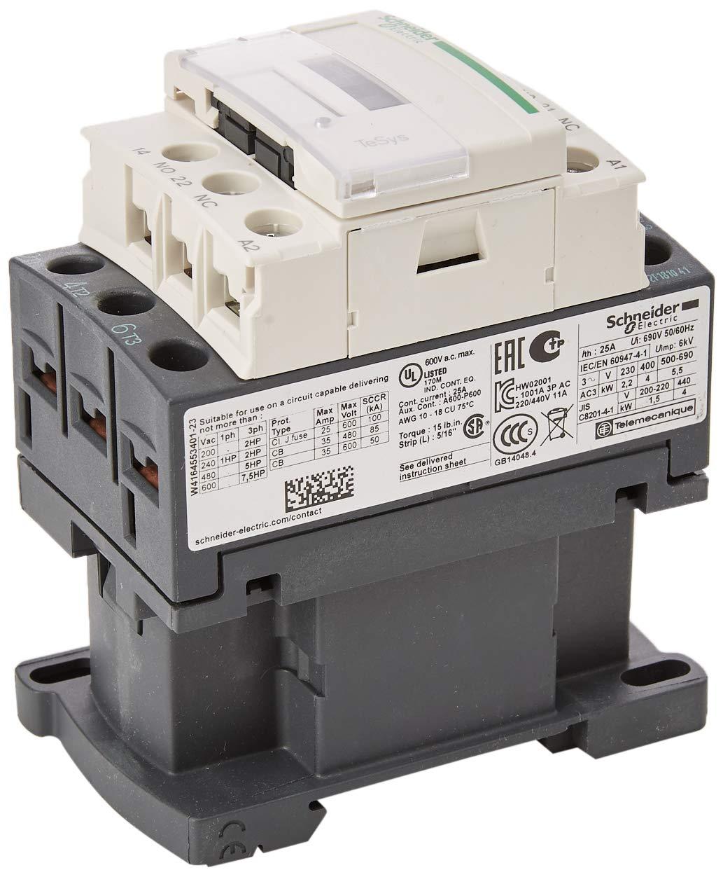 LC1D09Q7 - CONTATTORE 9A 380VAC 50/6 - SCHNEIDER ELECTRIC LC1D09Q7