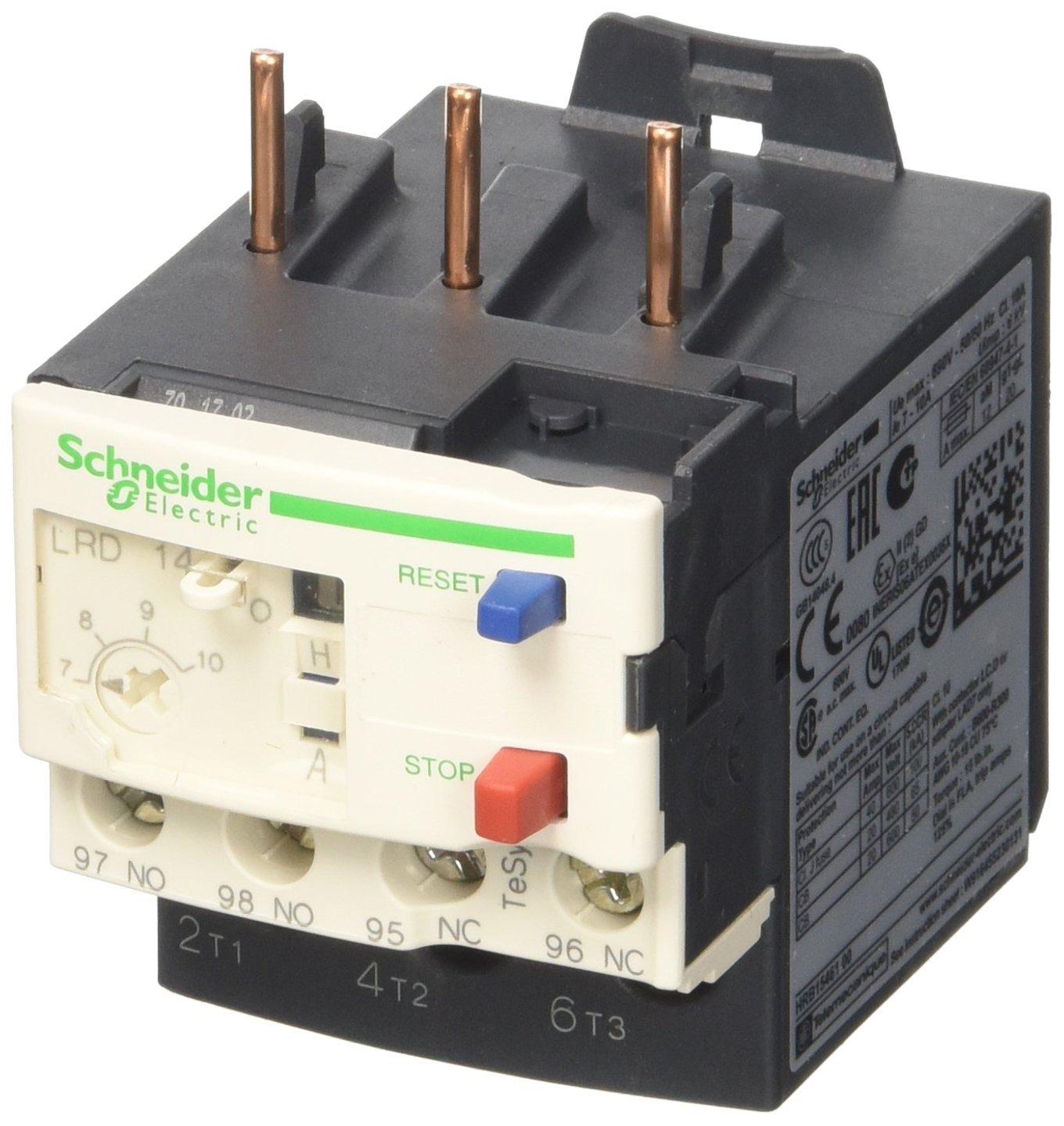 Schneider LRD14 Relè Termico 7-10A, Bianco - SCHNEIDER ELECTRIC LRD14