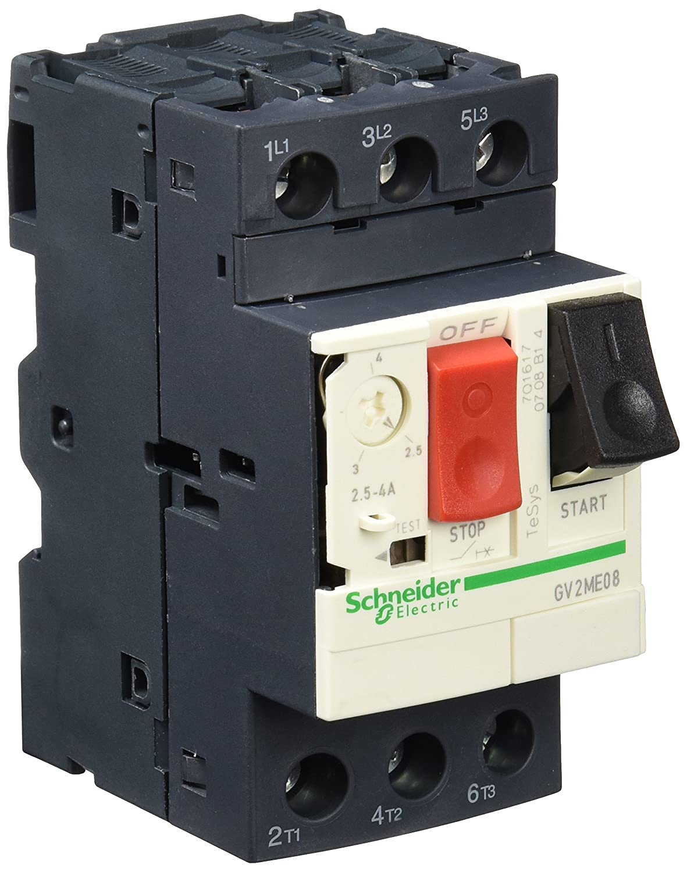 Schneider GV2ME08 Interruttore Salvamotore 2,5-4 a, Bianco - SCHNEIDER ELECTRIC GV2ME08