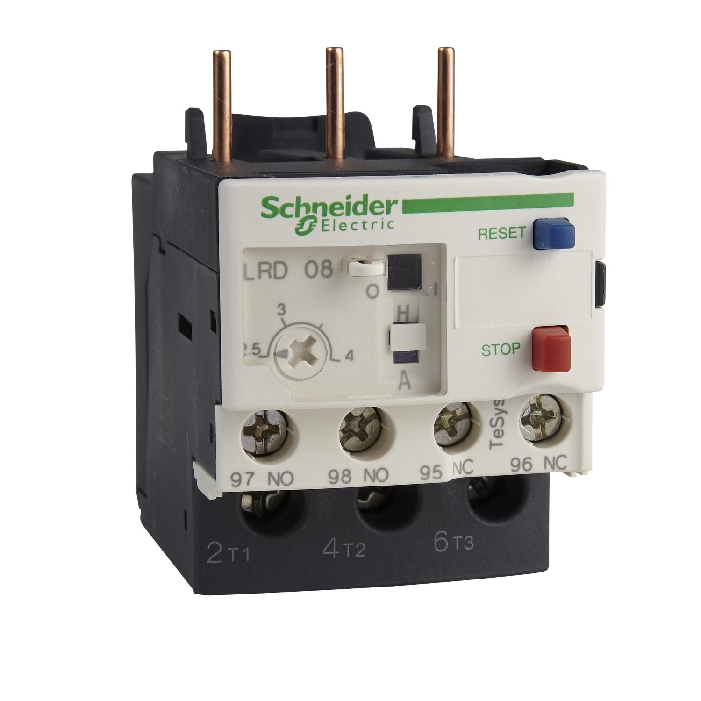 Schneider LRD08 Relè Termico 2,5-4A, Bianco - SCHNEIDER ELECTRIC LRD08