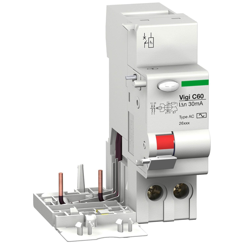Modulo differenziale Vigi C60 - 2P - 25 A - 220...415V - 500 mA - Classe CA - SCHNEIDER ELECTRIC 26584