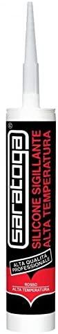 SARATOGA - Silicone Acetico Termico Alta Temperatura, colore Rosso, 310 ml - SARATOGA SPA 85134001