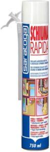 SARATOGA - schiuma RAPIDA poliuretanica autoespandente uso manuale 750ml = 40lt fissa sigilla coibenta isola riempie - SARATOGA SPA 85208001