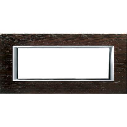 Bticino Axolute ha4806lwe – ax-placa 6 m legno wengè - BTICINO LEGRAND HA4806LWE
