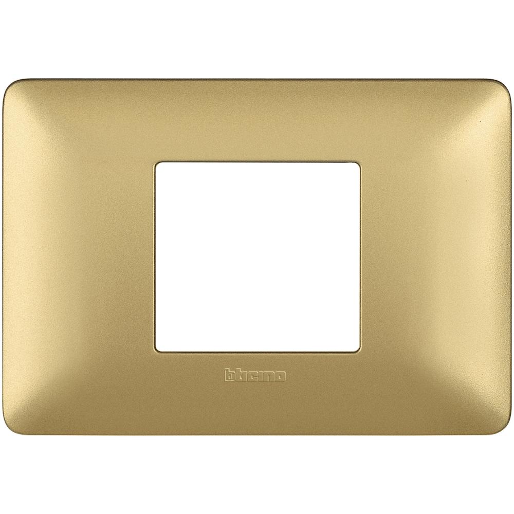 BTICINO MATIX - Placca 2 Moduli, Centrati Gold - BTICINO LEGRAND AM4819MGL