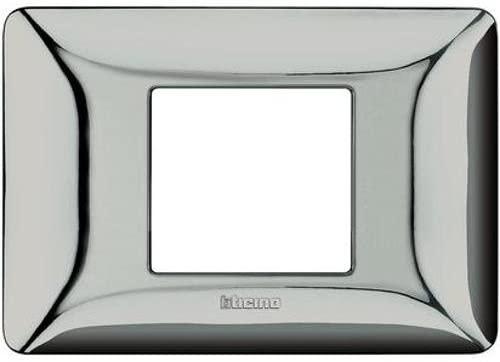 BTICINO - MATIX placca 2 Moduli, Cromo Lucido - BTICINO LEGRAND AM4819GCR