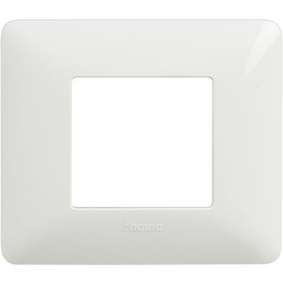 BTICINO - Placca 2 Moduli, Bianco AM4802BBN - BTICINO LEGRAND AM4802BBN