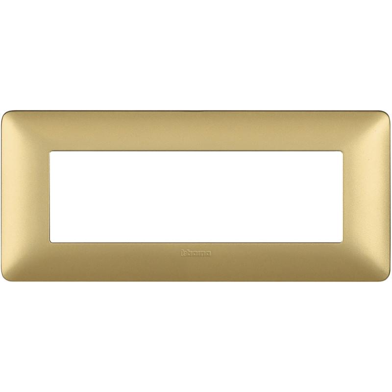 BTICINO - MATIX PLACCA 6 MODULI GOLD - BTICINO LEGRAND AM4806MGL