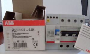 DS674 C10 30MA INTERRUTTORE DIFFERENZIALE MAGNETOTERMICO - ABB SACE EY 262 8