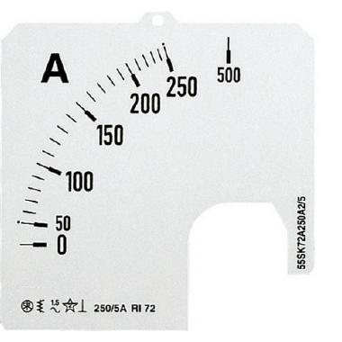 SCL1 60A A1 SCALA PER AMPEROMETRO CA - ABB SACE EG 173 7