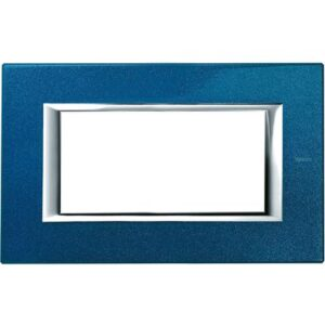 AXOLUTE - PLACCA 4P BLU MEISSEN - BTICINO LEGRAND HA4804BM